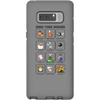 Nintendo Super Mario Know Your Enemies Phone Case - Samsung Note 8 - Tough Case - Gloss