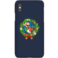 Nintendo Super Mario Luigi Present Phone Case for iPhone and Android - iPhone X - Snap Case - Gloss - Present Gifts