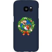 Nintendo Super Mario Luigi Present Phone Case for iPhone and Android - Samsung S7 Edge - Snap Case - Gloss - Present Gifts