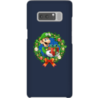 Nintendo Super Mario Luigi Present Phone Case for iPhone and Android - Samsung Note 8 - Snap Case - Gloss - Present Gifts