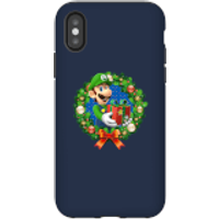 Nintendo Super Mario Luigi Present Phone Case for iPhone and Android - iPhone X - Tough Case - Gloss - Present Gifts