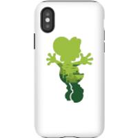 Funda móvil Nintendo Super Mario Silueta Yoshi para iPhone y Android - iPhone X - Carcasa doble capa - Brillante