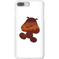Nintendo Super Mario Goomba Silhouette Phone Case - iPhone 8 Plus - Snap Case - Matte