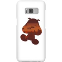 Funda móvil Nintendo Super Mario Silueta Goomba para iPhone y Android - Samsung S8 - Carcasa rígida - Mate