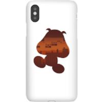 Nintendo Super Mario Goomba Silhouette Phone Case - iPhone X - Snap Case - Gloss