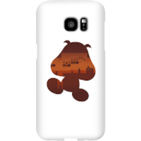 Nintendo Super Mario Goomba Silhouette Phone Case - Samsung S7 Edge - Snap Case - Gloss