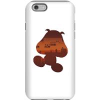 Funda móvil Nintendo Super Mario Silueta Goomba para iPhone y Android - iPhone 6 - Carcasa doble capa - Brillante