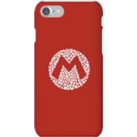 Funda móvil Nintendo Mario Logo para iPhone y Android - iPhone 7 - Carcasa rígida - Brillante