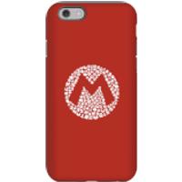 Funda móvil Nintendo Mario Logo para iPhone y Android - iPhone 6S - Carcasa doble capa - Brillante