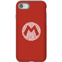 Nintendo Super Mario Mario Items Logo Phone Case - iPhone 8 - Tough Case - Gloss