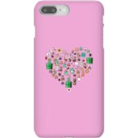 Funda móvil Nintendo Super Mario Corazón Iconos para iPhone y Android - iPhone 8 Plus - Carcasa rígida - Mate