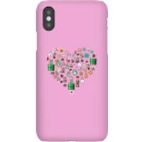 Funda móvil Nintendo Super Mario Corazón Iconos para iPhone y Android - iPhone X - Carcasa rígida - Mate