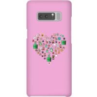 Pixel Sprites Heart Phone Case - Samsung Note 8 - Snap Case - Matte - Heart Gifts