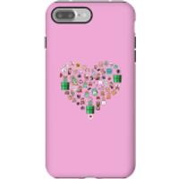 Pixel Sprites Heart Phone Case - iPhone 7 Plus - Tough Case - Matte - Heart Gifts