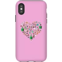 Funda móvil Nintendo Super Mario Corazón Iconos para iPhone y Android - iPhone X - Carcasa doble capa - Mate