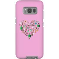 Pixel Sprites Heart Phone Case - Samsung S8 - Tough Case - Matte - Heart Gifts