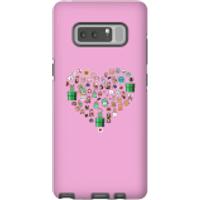 Pixel Sprites Heart Phone Case - Samsung Note 8 - Tough Case - Matte - Heart Gifts