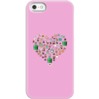 Pixel Sprites Heart Phone Case - iPhone 5/5s - Snap Case - Gloss - Heart Gifts