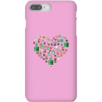 Pixel Sprites Heart Phone Case - iPhone 8 Plus - Snap Case - Gloss - Heart Gifts