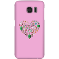 Pixel Sprites Heart Phone Case - Samsung S6 - Snap Case - Gloss