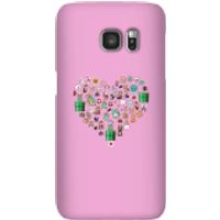 Funda móvil Nintendo Super Mario Corazón Iconos para iPhone y Android - Samsung S7 - Carcasa rígida - Brillante