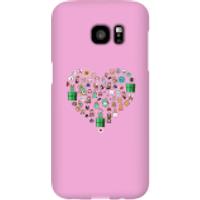 Funda móvil Nintendo Super Mario Corazón Iconos para iPhone y Android - Samsung S7 Edge - Carcasa rígida - Brillante