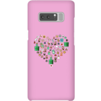 Pixel Sprites Heart Phone Case - Samsung Note 8 - Snap Case - Gloss