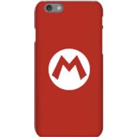 Nintendo Super Mario Mario Logo Phone Case - iPhone 6S - Snap Case - Matte