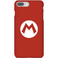 Nintendo Super Mario Mario Logo Phone Case - iPhone 8 Plus - Snap Case - Matte