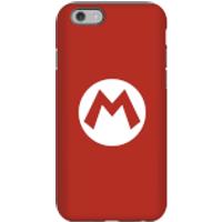 Funda móvil Nintendo Mario Logo para iPhone y Android - iPhone 6 - Carcasa doble capa - Mate