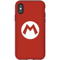 Funda móvil Nintendo Mario Logo para iPhone y Android - iPhone X - Carcasa doble capa - Mate