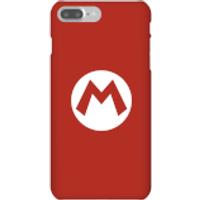 Funda móvil Nintendo Mario Logo para iPhone y Android - iPhone 7 Plus - Carcasa rígida - Brillante