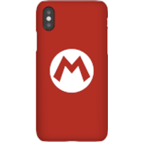 Nintendo Super Mario Mario Logo Phone Case - iPhone X - Snap Case - Gloss