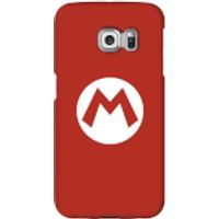 Nintendo Super Mario Mario Logo Phone Case - Samsung S6 Edge Plus - Snap Case - Gloss