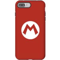 Funda móvil Nintendo Mario Logo para iPhone y Android - iPhone 7 Plus - Carcasa doble capa - Brillante