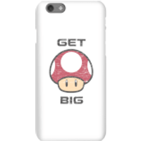 Nintendo Super Mario Get Big Mushroom Phone Case - iPhone 6S - Snap Case - Matte - Mushroom Gifts