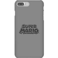 Nintendo Super Mario Distressed Logo Phone Case - iPhone 7 Plus - Snap Case - Matte