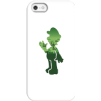 Funda móvil Nintendo Super Mario Silueta Luigi para iPhone y Android - iPhone 5/5s - Carcasa rígida - Mate