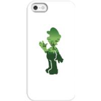 Funda móvil Nintendo Super Mario Silueta Luigi para iPhone y Android - iPhone 5/5s - Carcasa rígida - Brillante