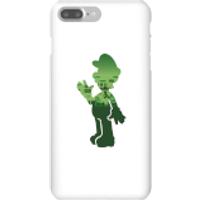 Funda móvil Nintendo Super Mario Silueta Luigi para iPhone y Android - iPhone 7 Plus - Carcasa rígida - Brillante