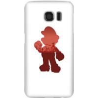 Funda móvil Nintendo Super Mario Silueta Mario para iPhone y Android - Samsung S6 - Carcasa rígida - Mate