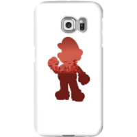 Nintendo Super Mario Mario Silhouette Phone Case - Samsung S6 Edge - Snap Case - Matte