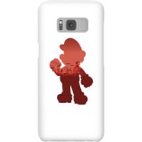 Funda móvil Nintendo Super Mario Silueta Mario para iPhone y Android - Samsung S8 - Carcasa rígida - Brillante
