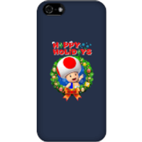 Toad Happy Holidays Phone Case for iPhone and Android - iPhone 5C - Snap Case - Gloss - Happy Gifts