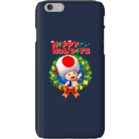 Toad Happy Holidays Phone Case for iPhone and Android - iPhone 6 - Snap Case - Gloss - Happy Gifts