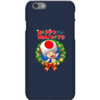 Toad Happy Holidays Phone Case for iPhone and Android - iPhone 6S - Snap Case - Gloss - Happy Gifts