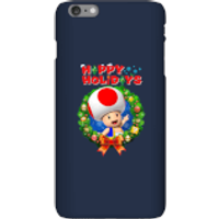 Toad Happy Holidays Phone Case for iPhone and Android - iPhone 6 Plus - Snap Case - Gloss - Happy Gifts