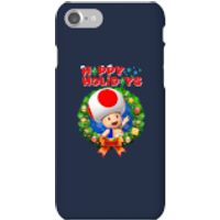 Toad Happy Holidays Phone Case for iPhone and Android - iPhone 7 - Snap Case - Gloss - Happy Gifts