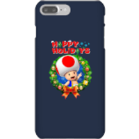 Toad Happy Holidays Phone Case for iPhone and Android - iPhone 7 Plus - Snap Case - Gloss - Happy Gifts
