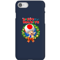 Toad Happy Holidays Phone Case for iPhone and Android - iPhone 8 - Snap Case - Gloss - Happy Gifts